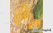 Political Shades Map of Jujuy, satellite outside