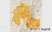 Political Shades Map of Jujuy, shaded relief outside