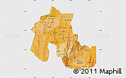 Political Shades Map of Jujuy, single color outside