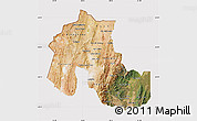 Satellite Map of Jujuy, cropped outside