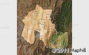 Satellite Map of Jujuy, darken