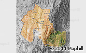 Satellite Map of Jujuy, desaturated