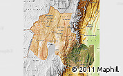 Satellite Map of Jujuy, physical outside