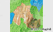 Satellite Map of Jujuy, political shades outside