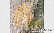 Satellite Map of Jujuy, semi-desaturated