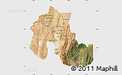 Satellite Map of Jujuy, single color outside