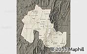 Shaded Relief Map of Jujuy, darken