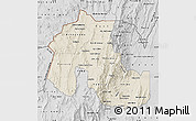 Shaded Relief Map of Jujuy, desaturated