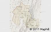 Shaded Relief Map of Jujuy, lighten