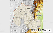 Shaded Relief Map of Jujuy, physical outside