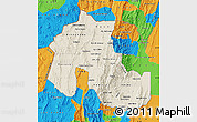 Shaded Relief Map of Jujuy, political outside