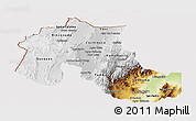 Physical Panoramic Map of Jujuy, cropped outside