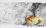 Physical Panoramic Map of Jujuy, desaturated