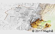 Physical Panoramic Map of Jujuy, lighten