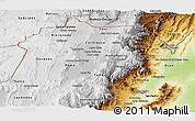 Physical Panoramic Map of Jujuy