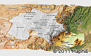 Physical Panoramic Map of Jujuy, satellite outside