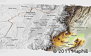 Physical Panoramic Map of Jujuy, semi-desaturated