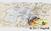 Physical Panoramic Map of Jujuy, shaded relief outside