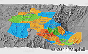 Political Panoramic Map of Jujuy, desaturated