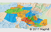 Political Panoramic Map of Jujuy, lighten