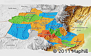 Political Panoramic Map of Jujuy, physical outside