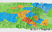 Political Panoramic Map of Jujuy, political shades outside