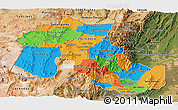 Political Panoramic Map of Jujuy, satellite outside