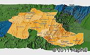 Political Shades Panoramic Map of Jujuy, darken