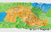 Political Shades Panoramic Map of Jujuy