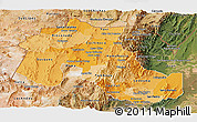 Political Shades Panoramic Map of Jujuy, satellite outside