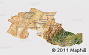 Satellite Panoramic Map of Jujuy, cropped outside
