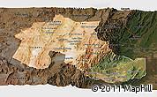 Satellite Panoramic Map of Jujuy, darken