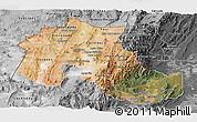 Satellite Panoramic Map of Jujuy, desaturated