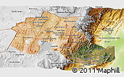 Satellite Panoramic Map of Jujuy, physical outside