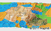Satellite Panoramic Map of Jujuy, political outside