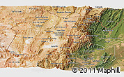 Satellite Panoramic Map of Jujuy