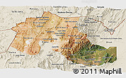 Satellite Panoramic Map of Jujuy, shaded relief outside