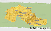 Savanna Style Panoramic Map of Jujuy, single color outside