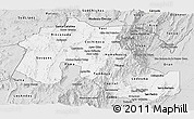 Silver Style Panoramic Map of Jujuy