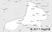 Silver Style Simple Map of Santa Catalina