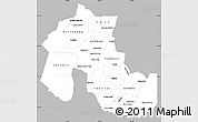 Gray Simple Map of Jujuy, single color outside