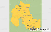 Savanna Style Simple Map of Jujuy, single color outside