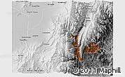 Physical 3D Map of Tumbaya, desaturated