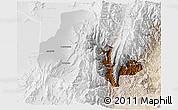 Physical 3D Map of Tumbaya, lighten