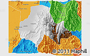 Physical 3D Map of Tumbaya, political outside