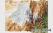 Physical 3D Map of Tumbaya, satellite outside