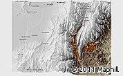 Physical 3D Map of Tumbaya, semi-desaturated