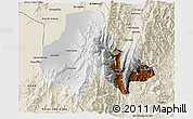 Physical 3D Map of Tumbaya, shaded relief outside
