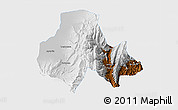 Physical 3D Map of Tumbaya, single color outside