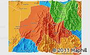 Political 3D Map of Tumbaya